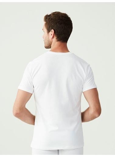 Mod Collection Erkek 2 Li T-Shirt Beyaz